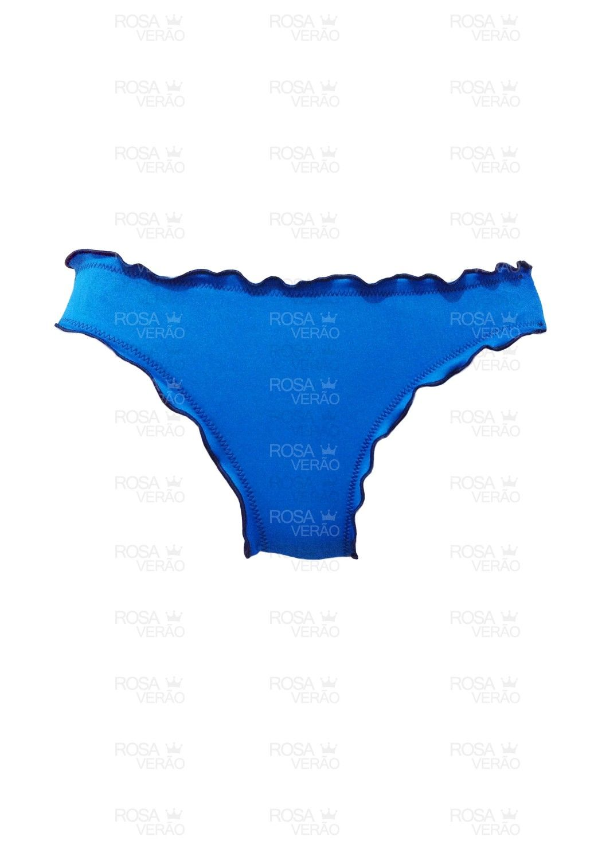 Calcinha Ripple Azul Fixo - Empina Bumbum