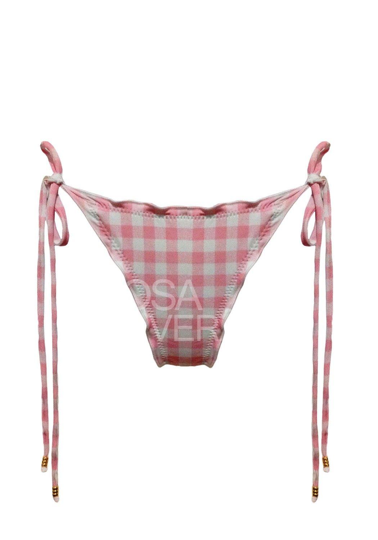 Calcinha Ruffle Vichy Rosa - Levanta Bumbum