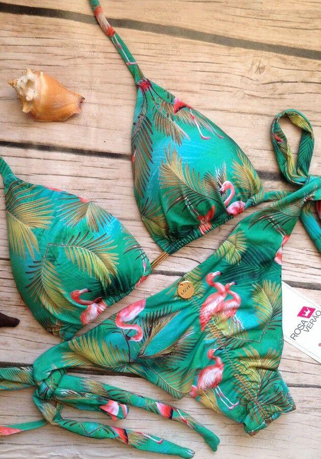 Biquíni Cortininha Lacinho Flamingo