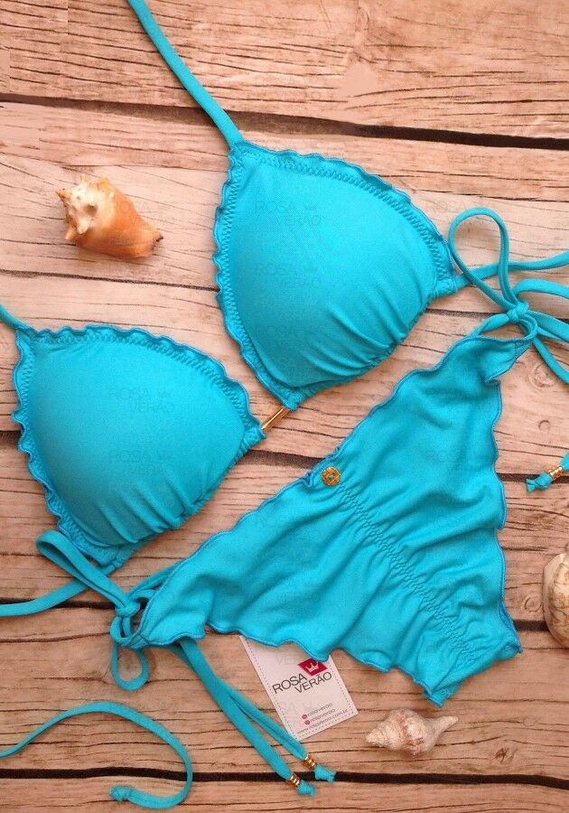Biquíni Ripple Azul Turquesa - Empina Bumbum