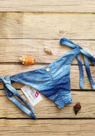 Calcinha Empina Bumbum Lacinho Jeans