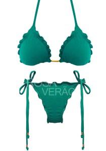 Biquíni Ripple Verde Jade - Empina Bumbum