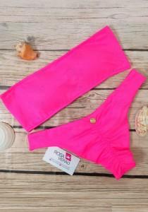 Biquíni Tomara Que Caia Faixa Pink Neon