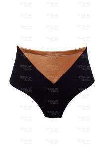 Calcinha Cintura Alta Recortes - Hot Pants - Gold