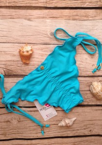 Calcinha Ripple Azul Turquesa - Empina Bumbum